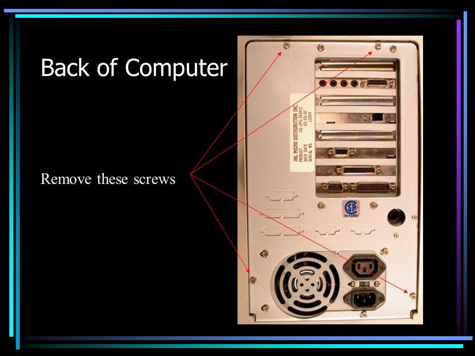 Look Inside Again! RAM BANK CPU, Fan, HeatsinkCard Slots (ISA & PCI)