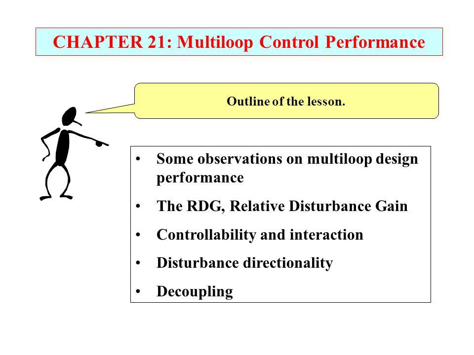 MULTILOOP CONTROL PERFORMANCE Decoupler with no errors; excellent performance.