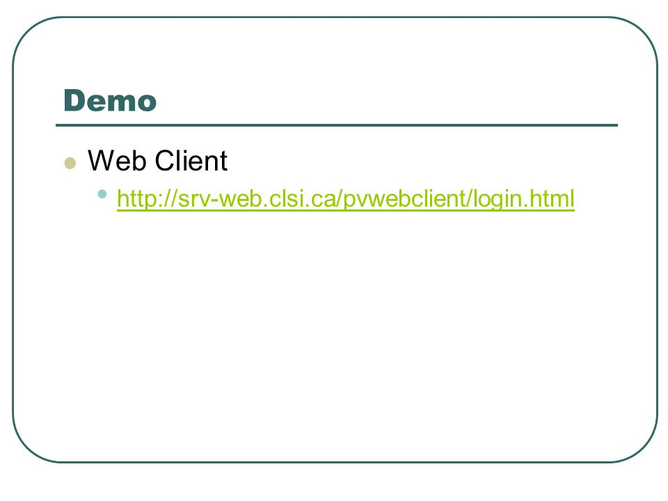 Demo Web Client