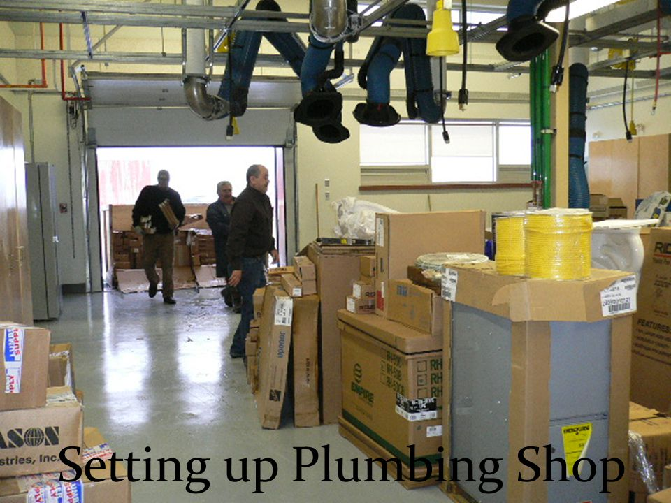 Setting up Plumbing Shop
