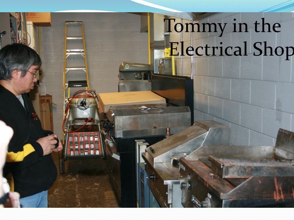 Tommy in the Electrical Shop