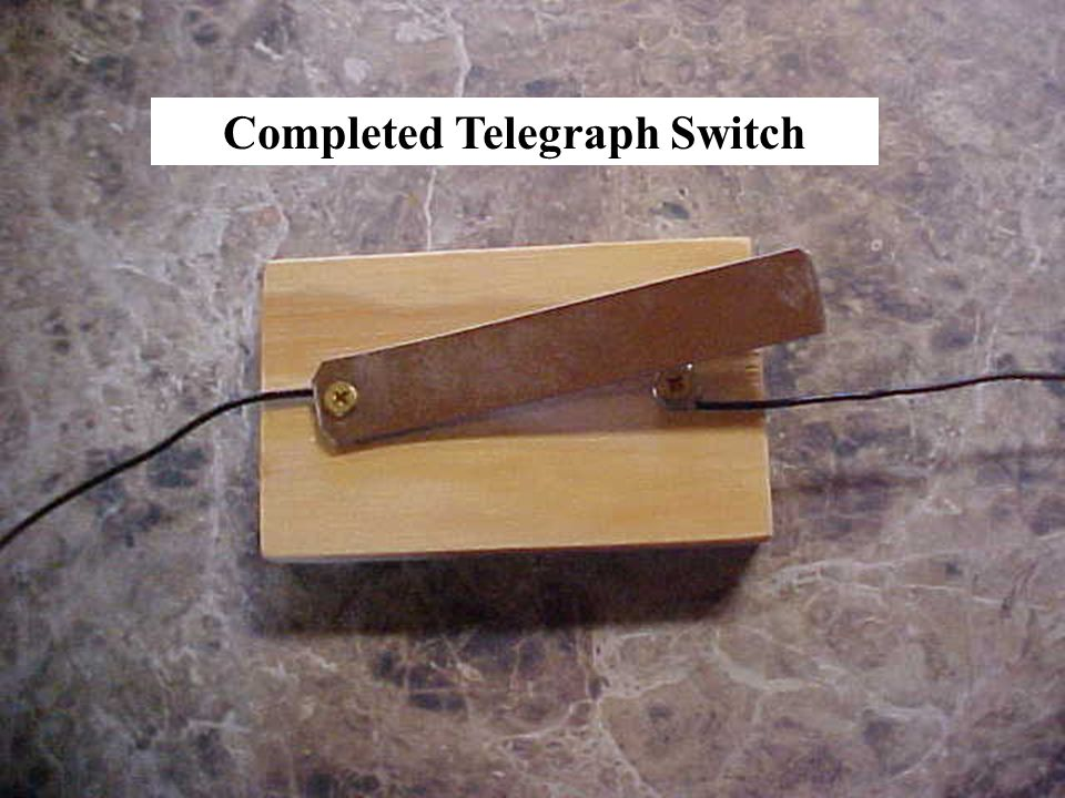 Completed Telegraph Switch