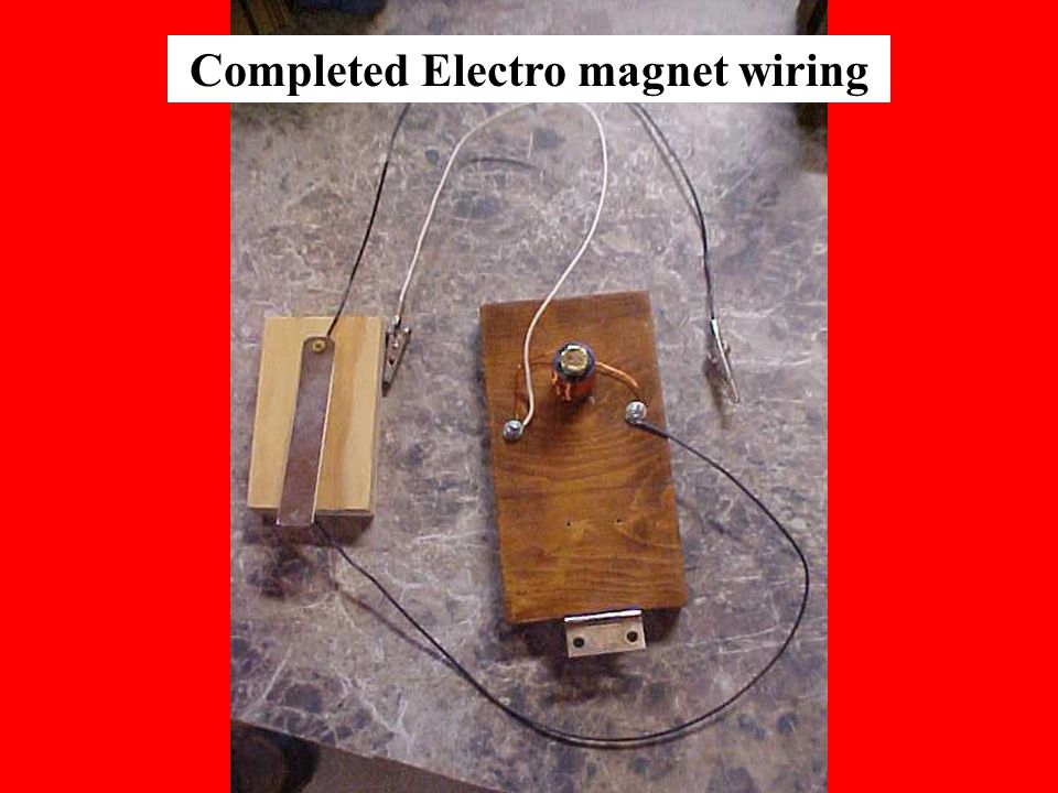 Completed Electro magnet wiring