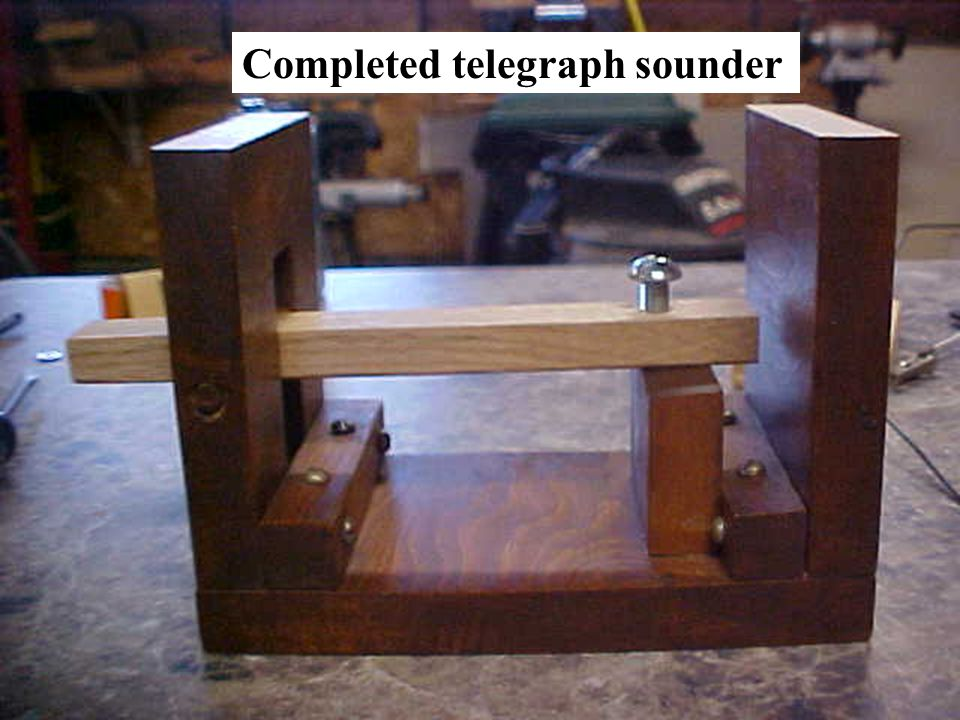 Completed telegraph sounder