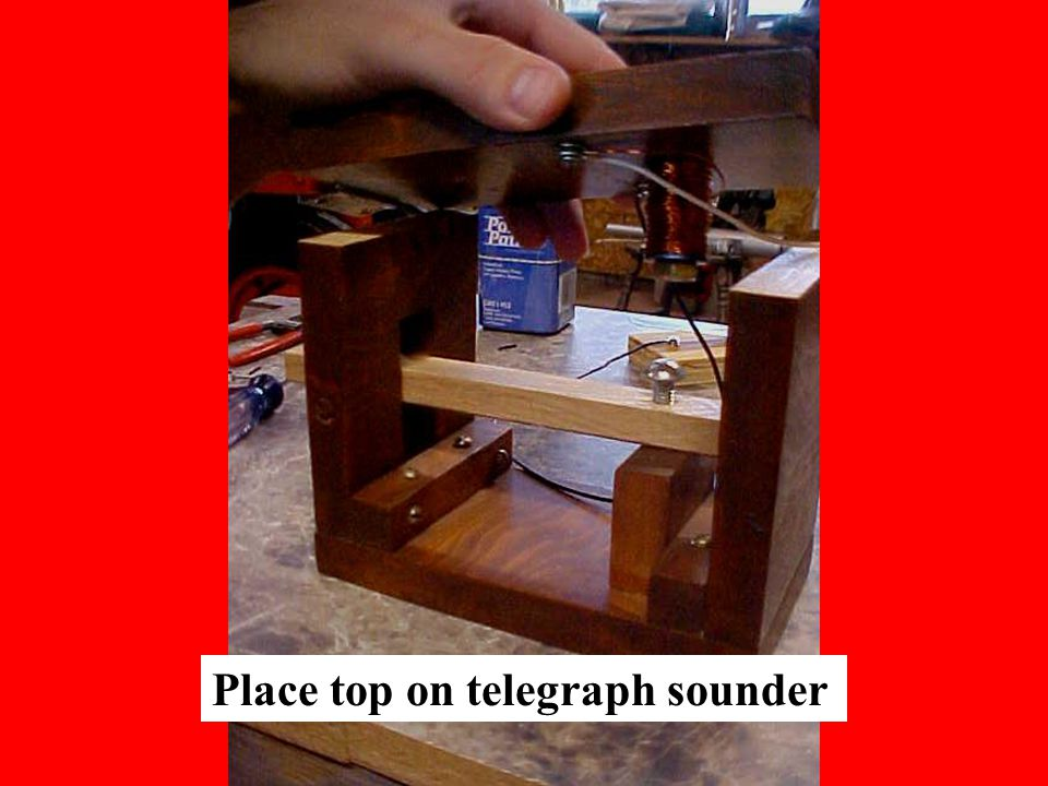Place top on telegraph sounder