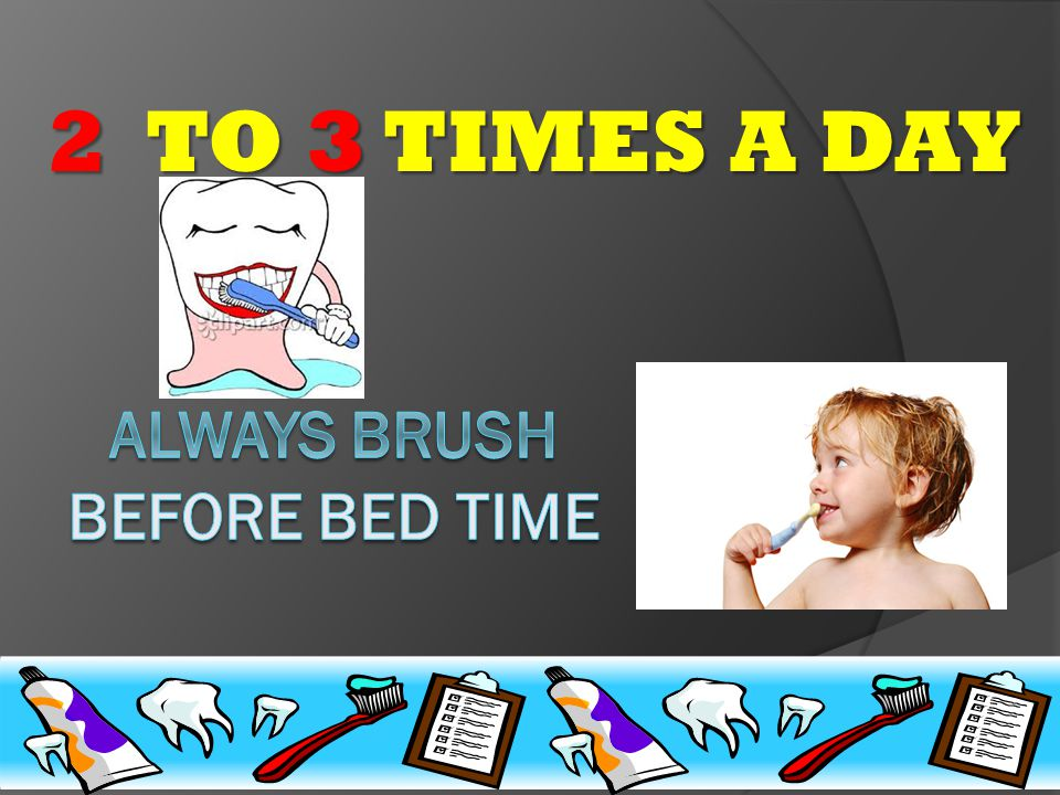 How many times a day do you brush?