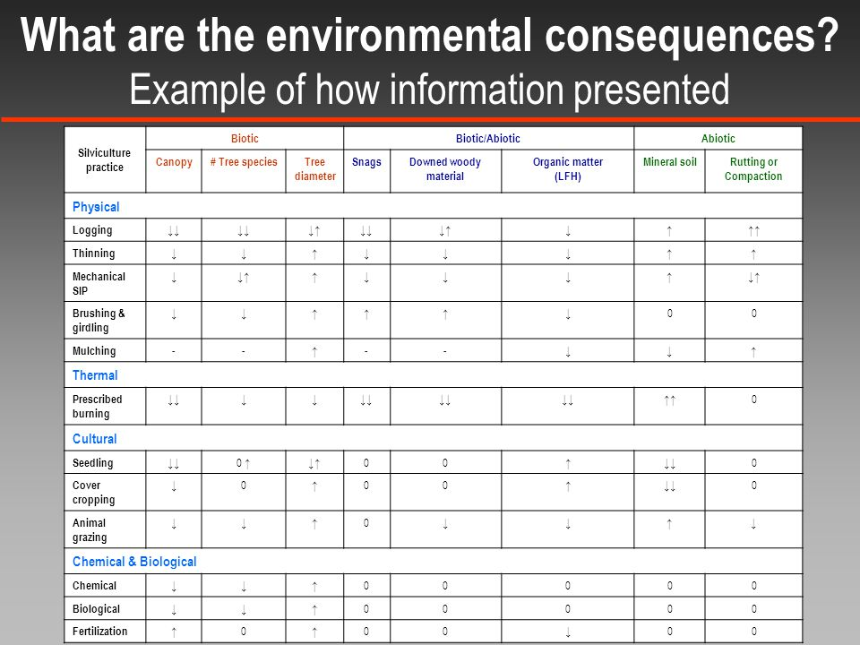 What are the environmental consequences.
