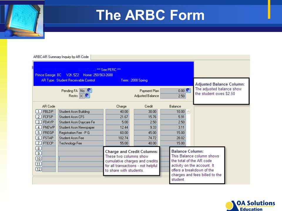 The ARBC Form