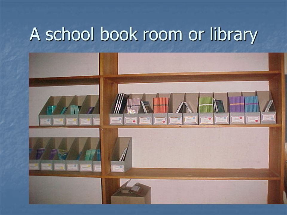 A school book room or library