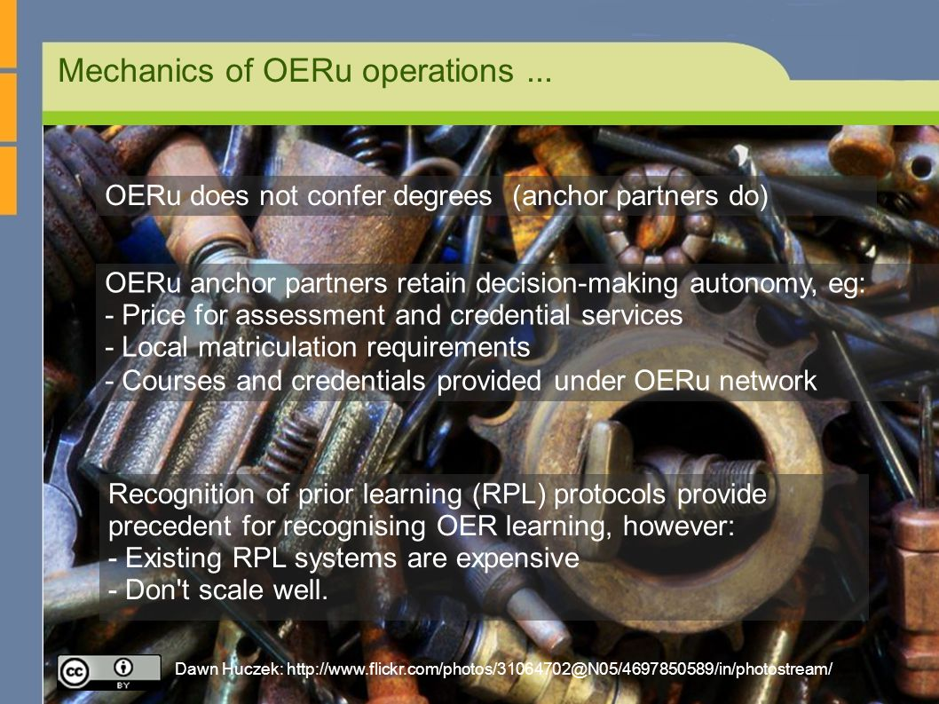 Mechanics of OERu operations...