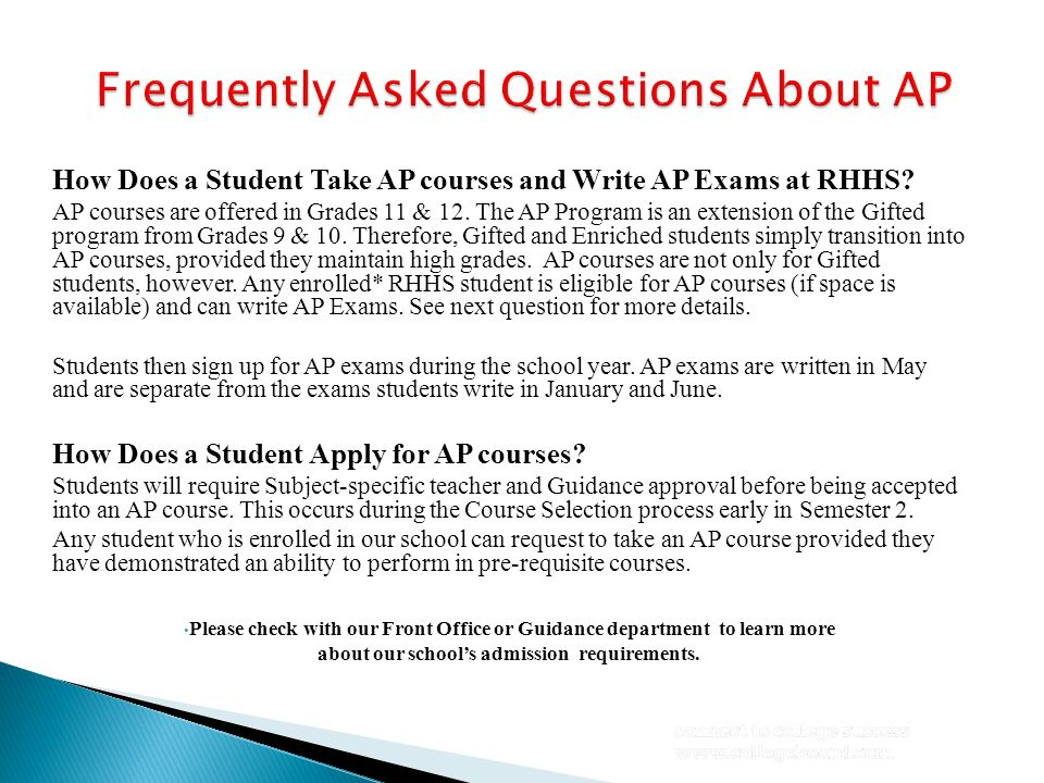 Do students have to take all AP courses available in the school.