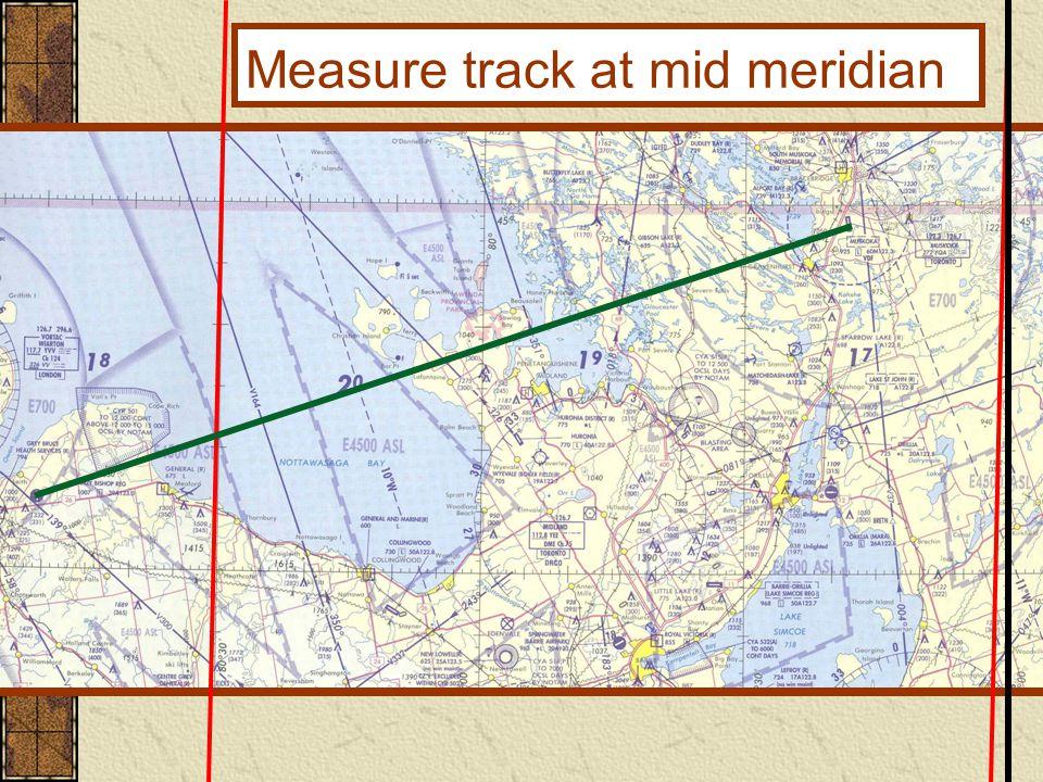 Measure track at mid meridian