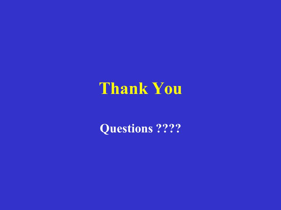 Thank You Questions ????
