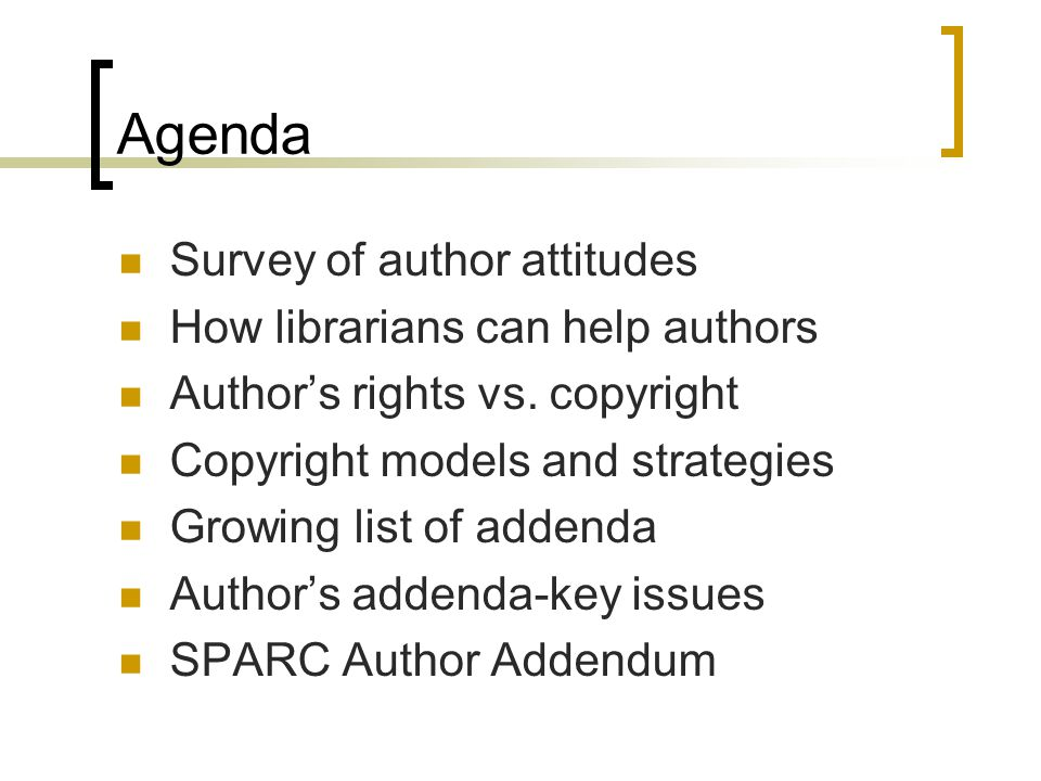 Survey of Author Attitudes… Need to understand scholarly communication issues from the author's perspective Authors want… (selected list)