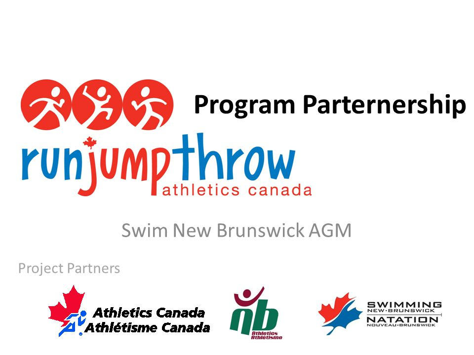 Program Parternership Swim New Brunswick AGM Project Partners
