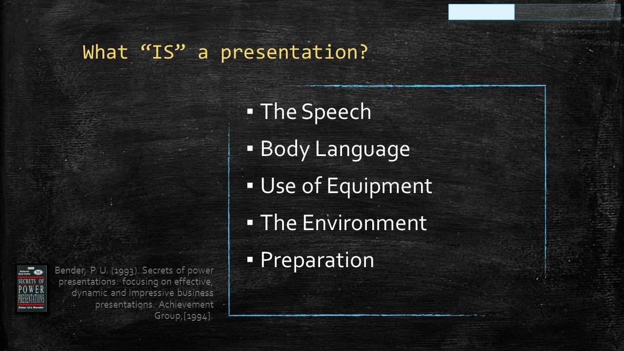How do you BEGIN your presentation?