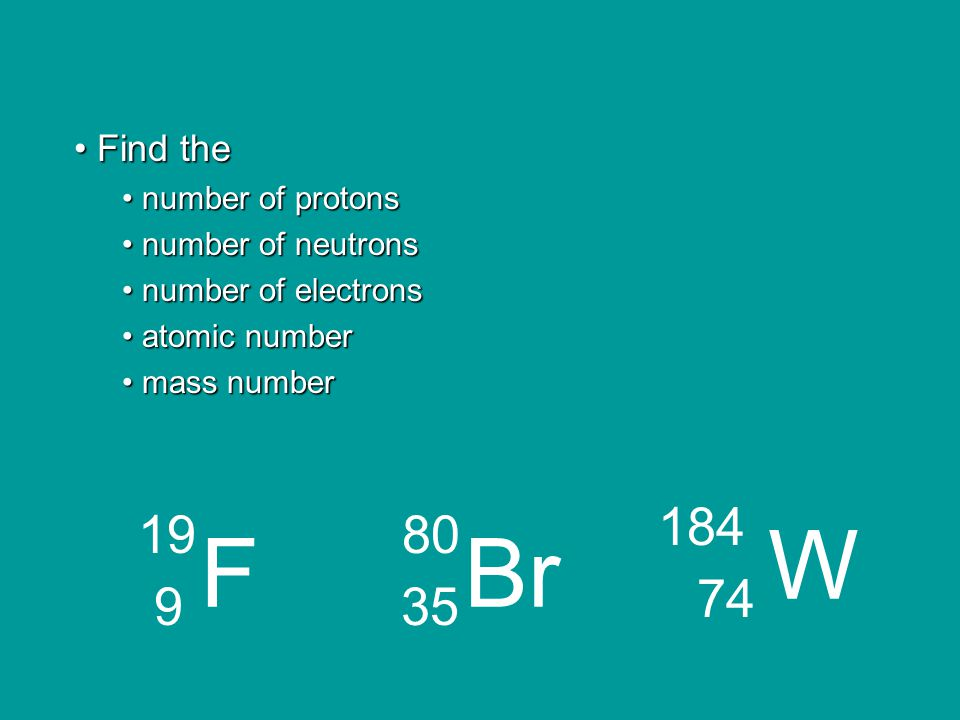 How many protons and electrons do each of the following have.