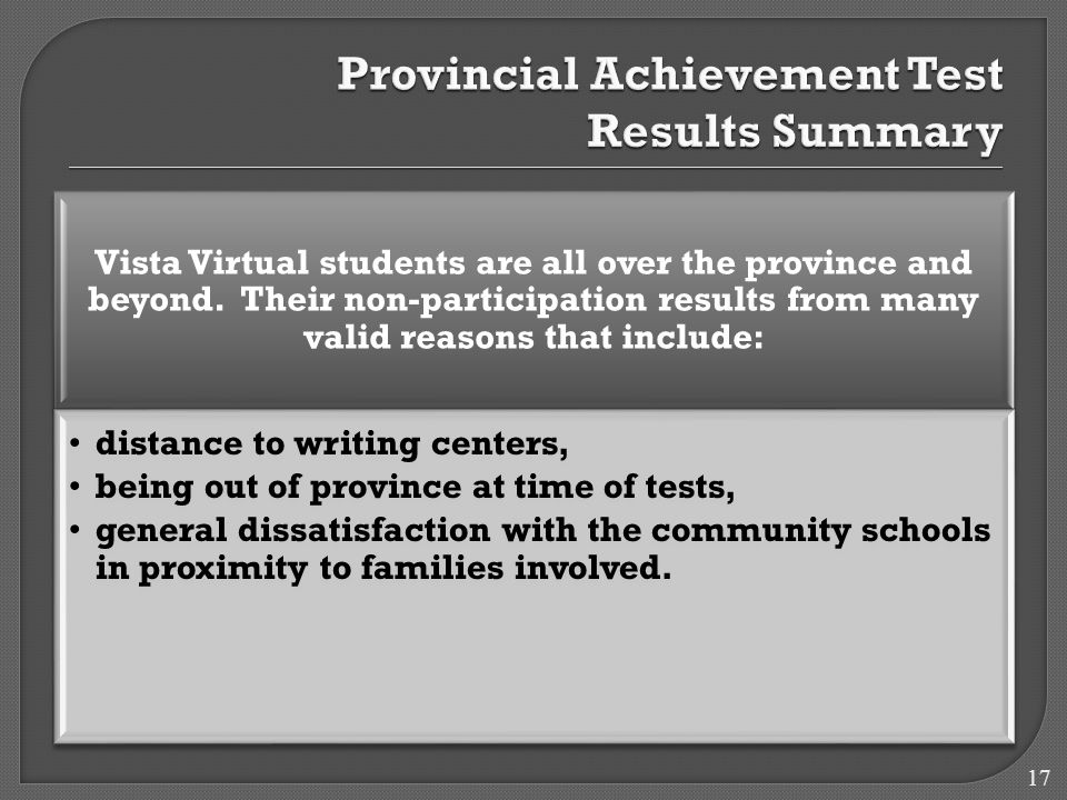 Vista Virtual students are all over the province and beyond.