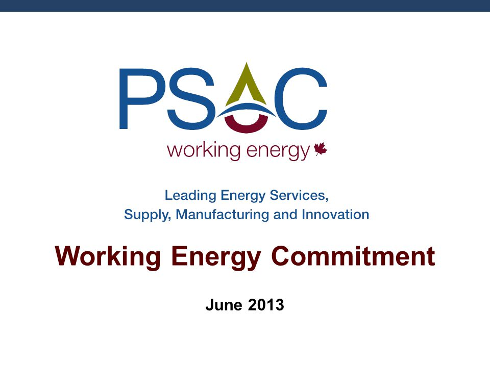 Working Energy Commitment June 2013