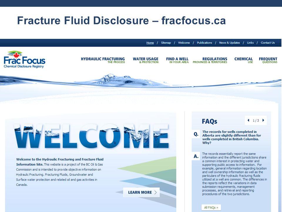 Fracture Fluid Disclosure – fracfocus.ca