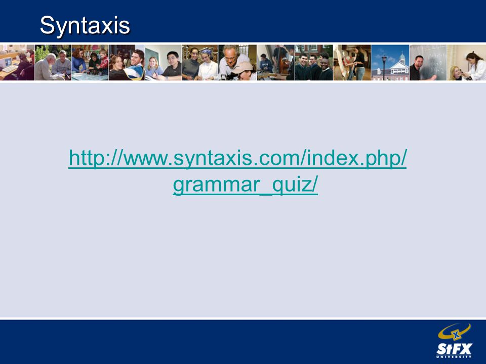 Syntaxis http://www.syntaxis.com/index.php/ grammar_quiz/