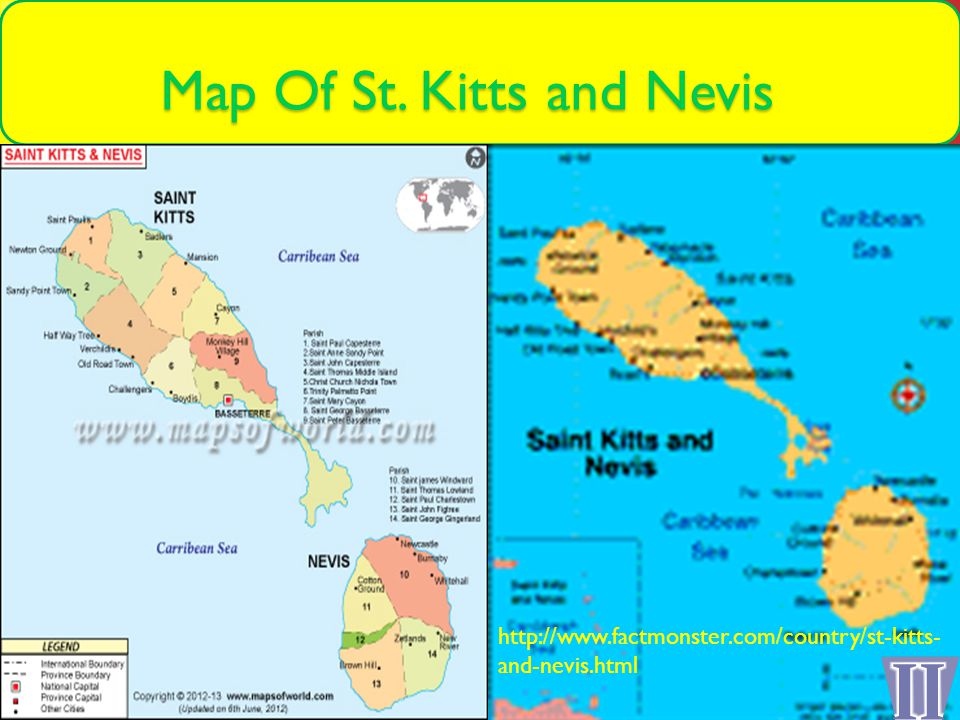 Federation of St Kitts and Nevis By Zander Munroe Continent Map