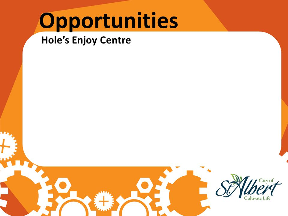 Opportunities Hole's Enjoy Centre