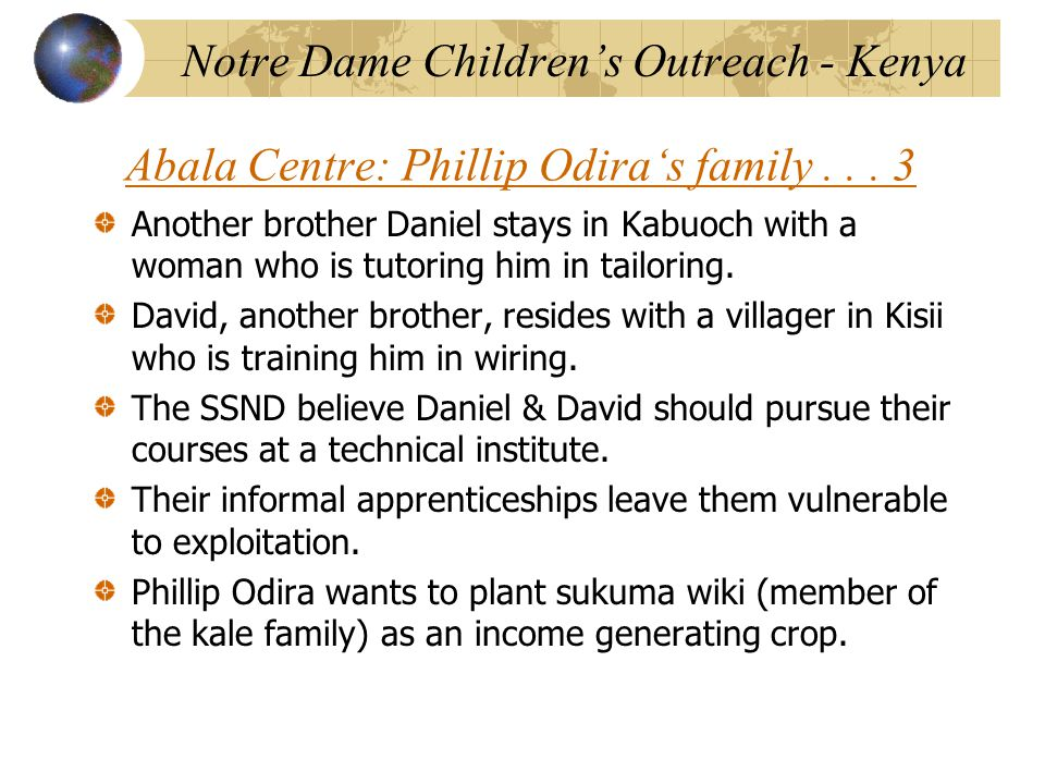 Abala Centre: Phillip Odira's family...
