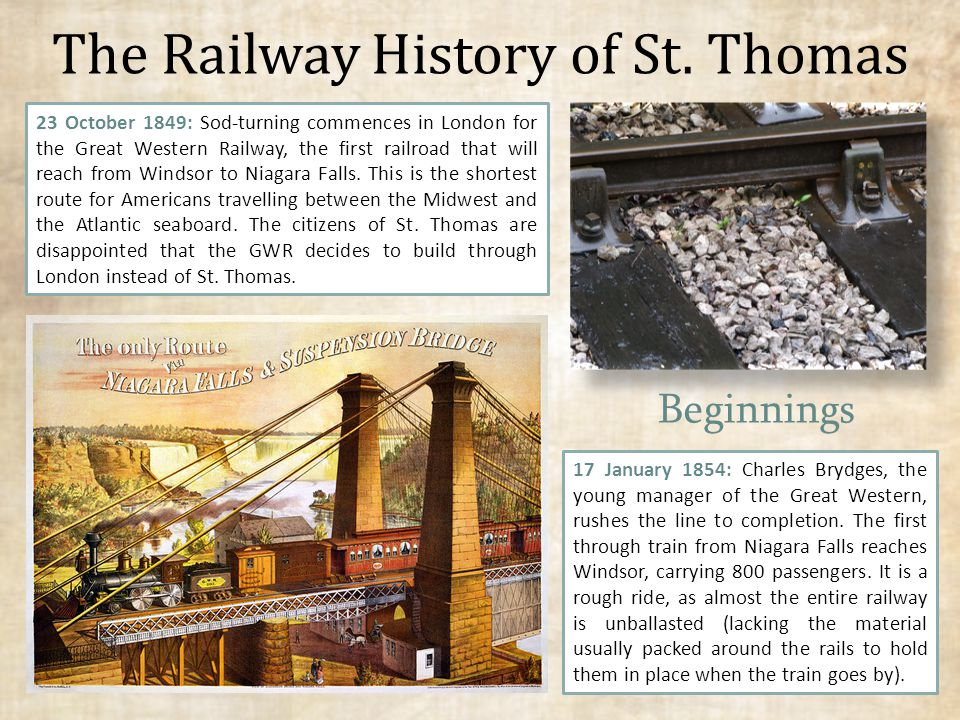 The Railway History of St.