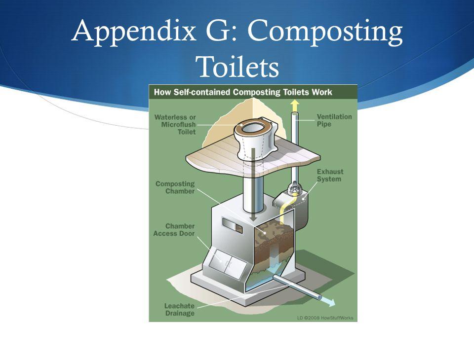 Appendix G: Composting Toilets