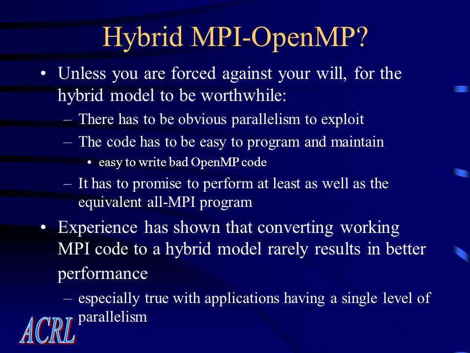 Hybrid MPI-OpenMP.