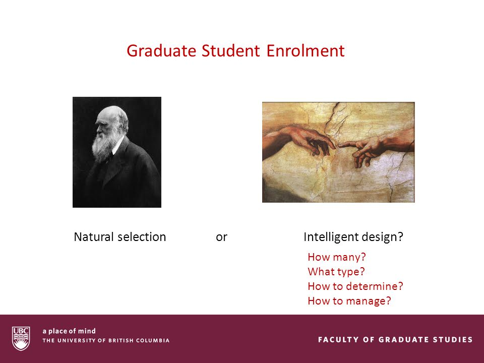 Graduate Student Enrolment Natural selection or Intelligent design.