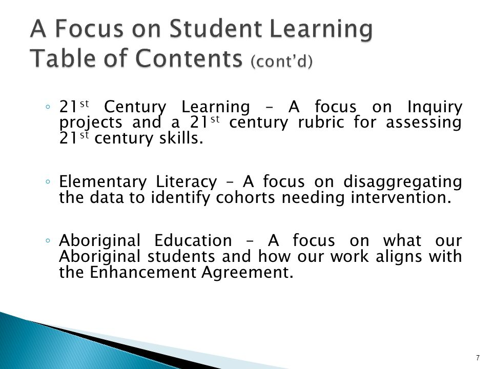  Our 3 rd Aboriginal Education Enhancement Agreement was signed on March 3 rd, 2010.