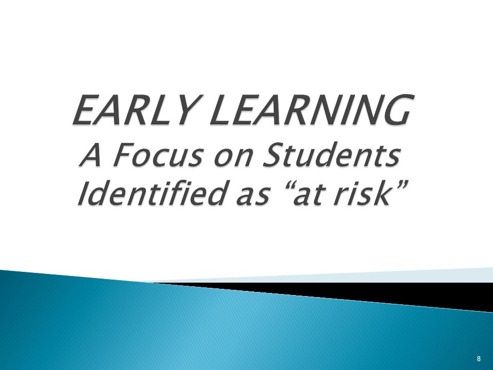 Early Learning Early learning data particularly focused on kindergarten and preschool initiatives…  Continued to promote and expand Early Learning initiatives in School District 42: Strongstart, Ready Set Learn, PALS, Welcome to Kindergarten.