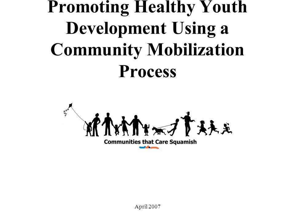 April 2007 Promoting Healthy Youth Development Using a Community Mobilization Process