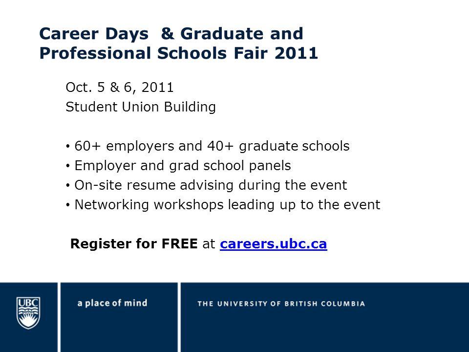 Career Days & Graduate and Professional Schools Fair 2011 Oct.