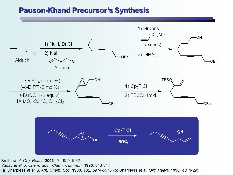 Pauson-Khand Precursor's Synthesis Yadav et al. J.