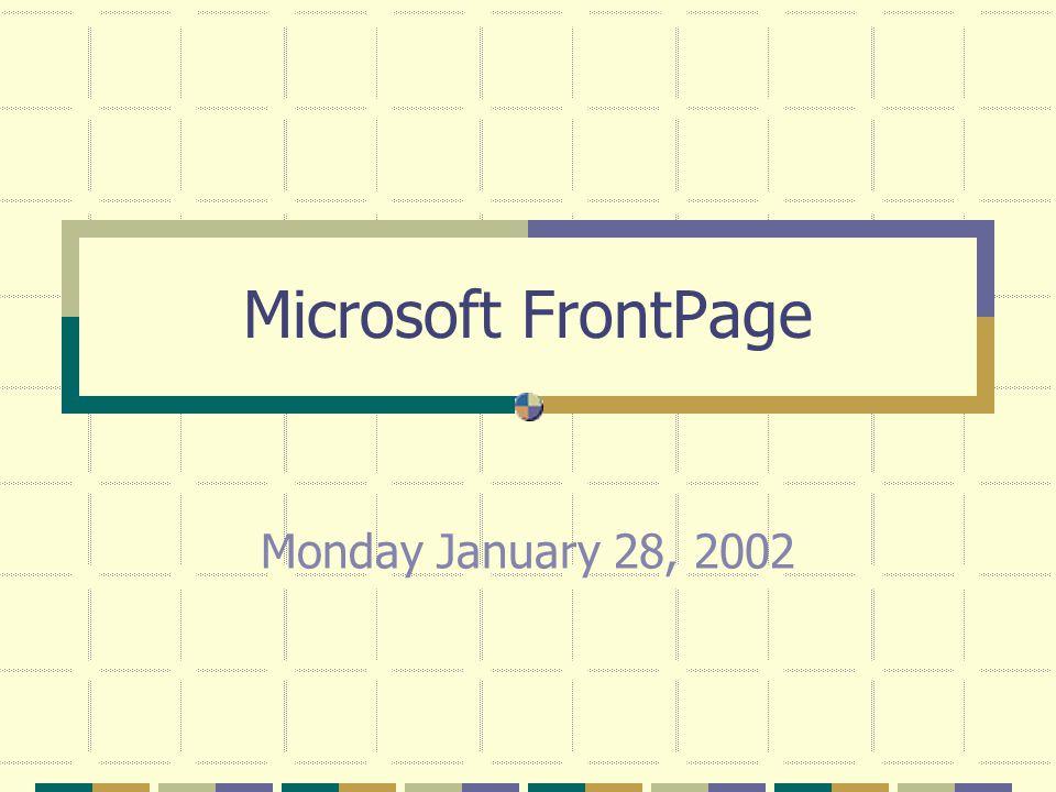 The Basic FrontPage Setup