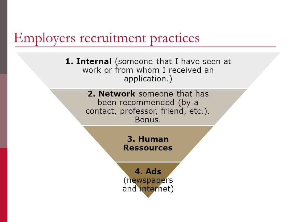 Employers recruitment practices 1.