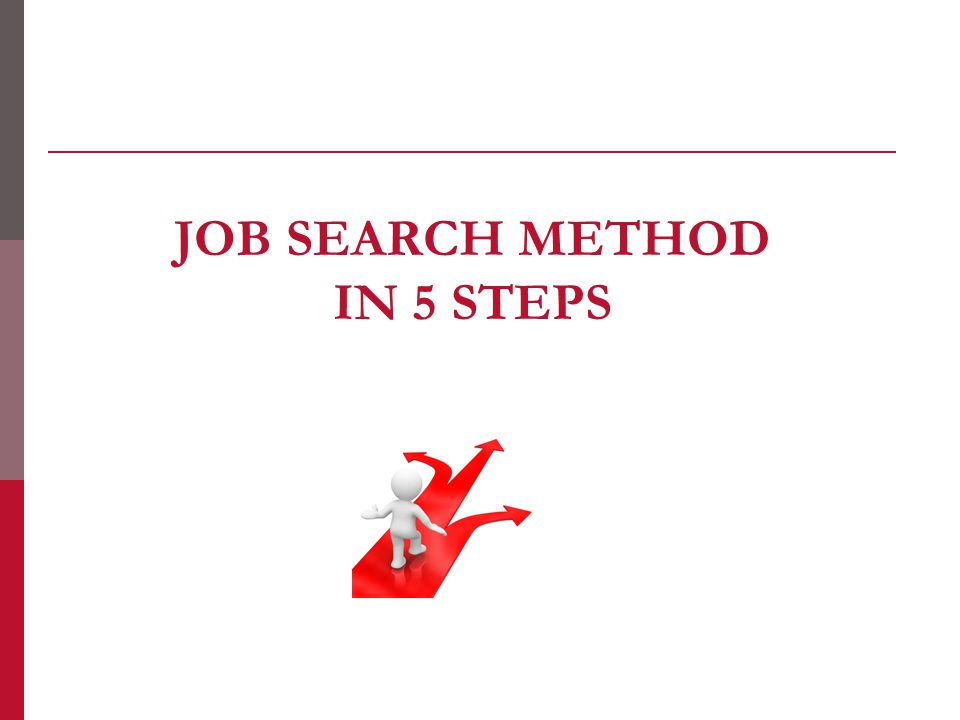 JOB SEARCH METHOD IN 5 STEPS
