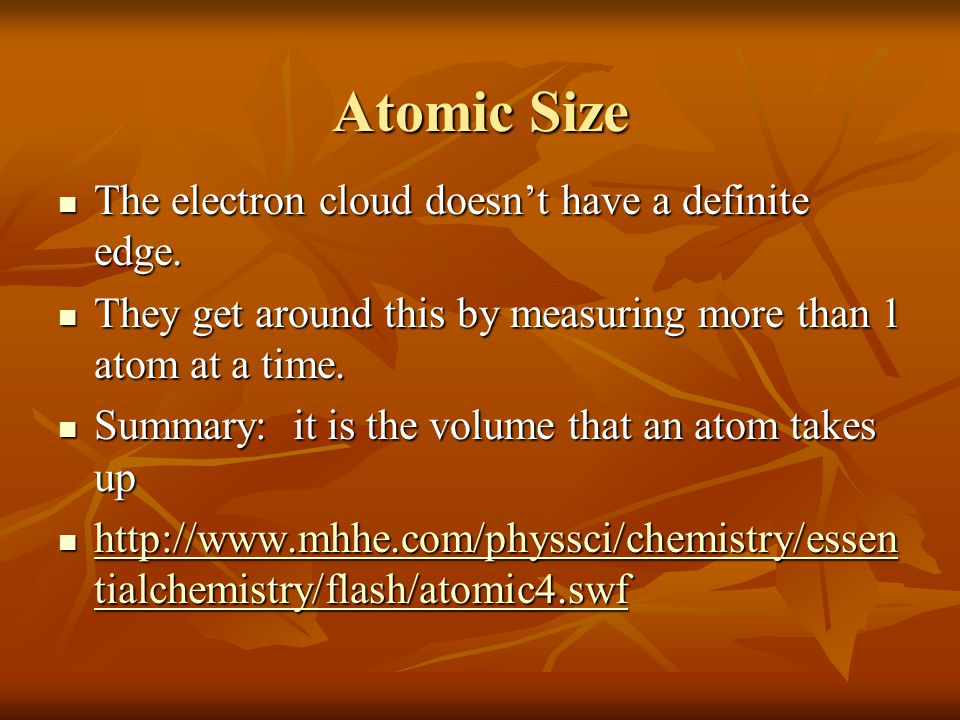 Group trends As we go down a group (each atom has another energy level) the atoms get bigger, because more protons and neutrons in the nucleus As we go down a group (each atom has another energy level) the atoms get bigger, because more protons and neutrons in the nucleus H Li Na K Rb