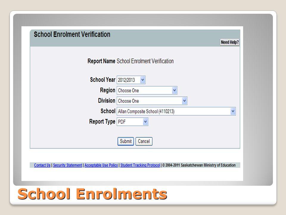 School Enrolments