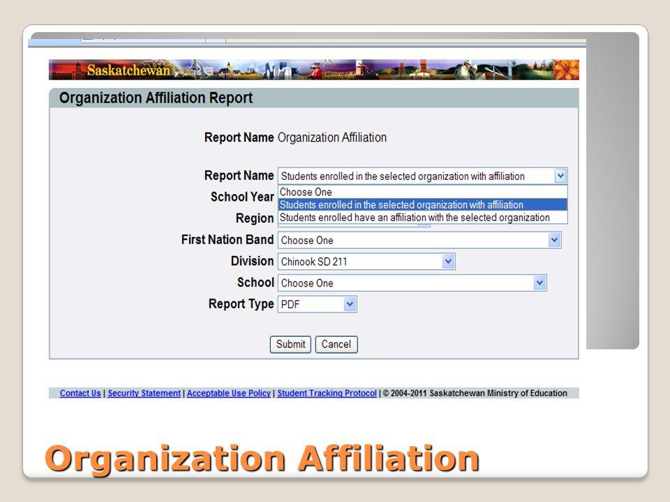 Organization Affiliation