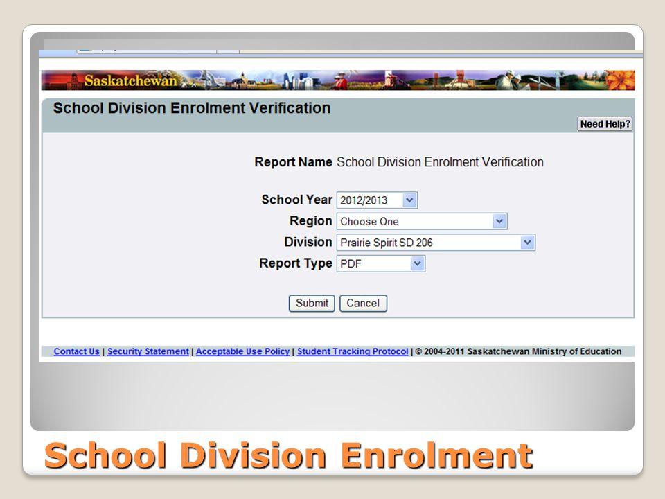 School Division Enrolment