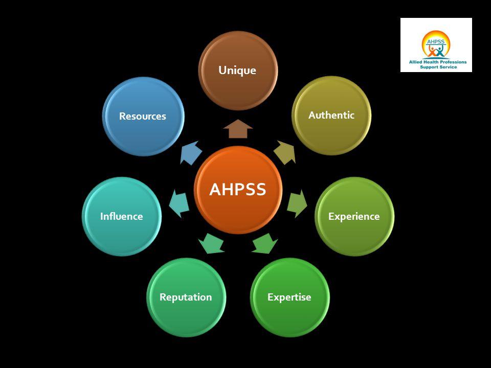 AHPSS Unique AuthenticExperienceExpertiseReputationInfluenceResources