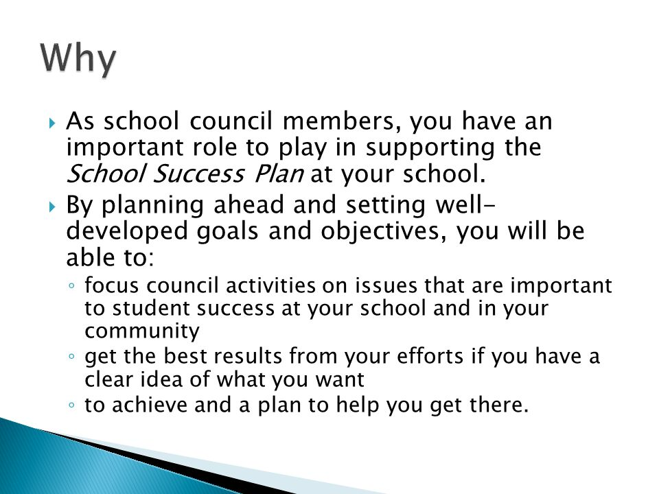  Schedule a planning meeting and invite all school council members to attend.