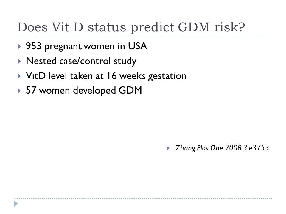 Does Vit D status predict GDM risk.