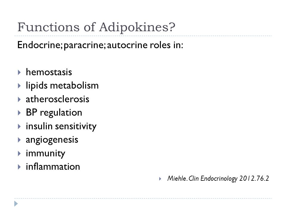 Functions of Adipokines.