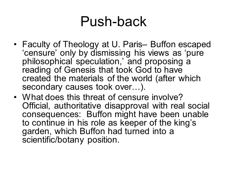 Push-back Faculty of Theology at U.