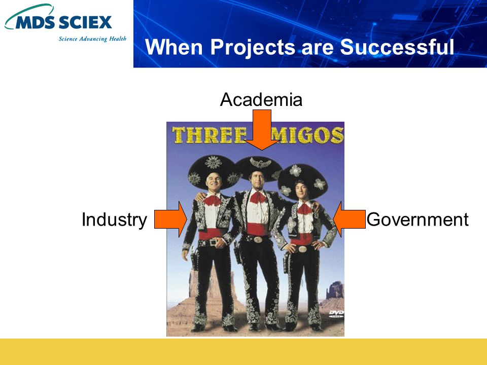When Projects are Successful Industry Academia Government